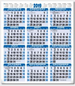 A2 - Year to View Calendar