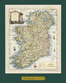 AM - Ancient Ireland Map 1779